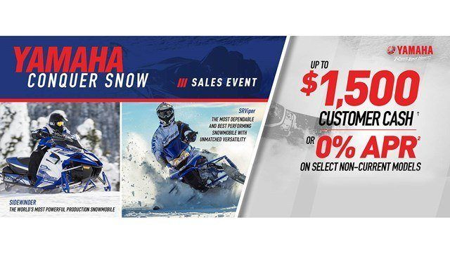 Yamaha Snowmobile - As Low As 0% APR for 36 months